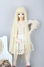 "Xmas gift BJD Doll Hair Wig 8-9""1/3 SD DZ DOD LUTS Blonde Long Straight Wig"