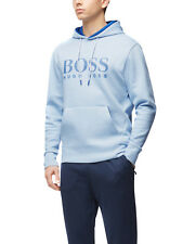 Hugo Boss Men's Athletic Slim Fit Logo Hoodie Sweater Soody 50384124 Blue