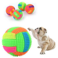 Interactive Squeak Ball with Light Elastic Ball Puppy Durable Chew Play Pet PLHN