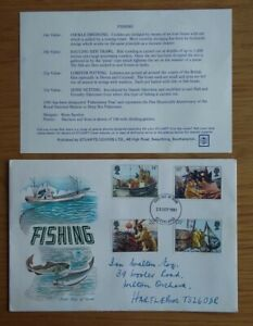 First Day Cover FISHING 1981 Stamp Collection