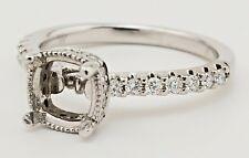 la Vie Designer Semi-Mount, 14kt White Gold & Diamond Engagement Ring 4UrDiamond