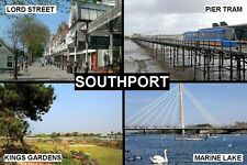SOUVENIR FRIDGE MAGNET of SOUTHPORT ENGLAND