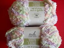 Needle Crafters Soft & Fuzzy plush baby yarn, Baby, lot of 2 (40 yds each)