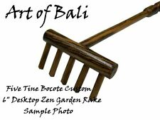 Bocote Custom Desktop Zen Garden Rake - Art of Bali Originals