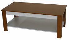 WOODEN COFFEE TABLE 2 COLOURS MAPLE/DARK BROWN BRAND NEW