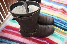 UGG 37 Stiefel Boots Damen Mädchen Braun Leder ECHTFELL Boots