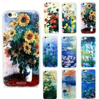 Van Gogh Oil Painting Pattern TPU Phone Case Cover For Samsung iPhone 7 6 Plus 5