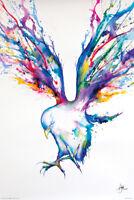 (LAMINATED) WATERCOLOR BIRD POSTER (61x91cm) ACHILLES MARC ALLANTE NEW ART PRINT