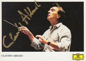 CLAUDIO ABBADO --- original signiert - A5#11b