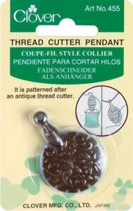 Clover Thread Cutter Pendant-Antique Gold