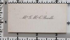Antique Calling Card Mr G. M.Beville