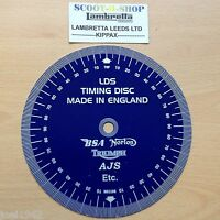 TRIUMPH MOTORCYCLE ENGINE CAM  IGNITION TIMING DISC.TOP QUALITY ALUMINIUM DISC.