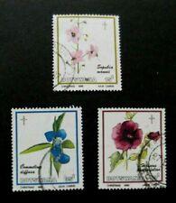 Botswana-1986-Christmas/Flowers-Short set 3 of 4-Used