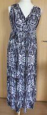 Per Una Ladies Dress 12 Grey Maxi Summer Casual Holiday BNWT Long £39 Stretchy