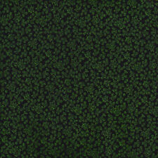 Half Metre Quilting Fabric ~ Green & Black Floral