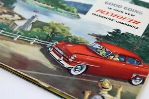 1952 Plymouth - Collectible Owner's Manual - Antique / Vintage - MOPAR - 1st Ed.
