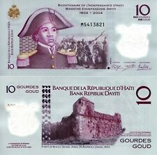 HAITI 10 Gourdes Banknote World Money UNC Currency Pick p279 2013 Bill Polymer