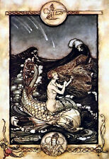 A Midsummer Nights Rêve les sirènes chanson 1908 Arthur Rackham art POSTER print