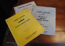 VINTAGE LANDIS TOOL CO. PARTS CATALOG GRINDERS HANBOOK THREE CIRCA 1951/1964
