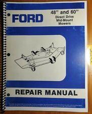Ford 914 48 60 Mower 1988 For 1020 1120 1220 1320 1520 Tractor Repair Manual