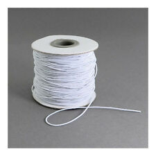 1 x White Elastic 10m x 1mm Thong Cord Continuous Length Y04815