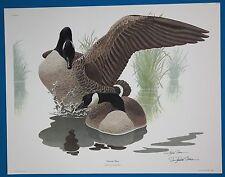 "Richard Sloan ""Canada Goose"" Brenta Canadensis Lithograph LE Hand Signed & COA"