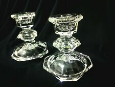 LEAD ME ON - Vintage Gorgeous Lead Crystal Pair Of Candlestick Candle Holders