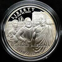 2007 P Jamestown 400th Anniversary Proof Commemorative, 90% Silver Dollar Coin