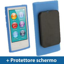 Blu Custodia TPU Gel per Nuovo Apple iPod Nano 7 Gen Generazione 7G Case Cover