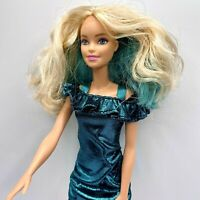 Barbie doll Day to Night Style Color Change Hair  Green dress hair 2016 BL6