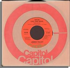 "James Talley - Tryin' Like The Devil + Nothin' But The Blues - 1976 7"" Single!"