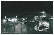 ts 206 1941 TRIESTE di notte vista da via Capitolina - viaggiata FP Ed. Brescia