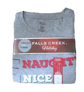 Mens Falls Creek 2 pc Naughty, Nice, I Tried Pajamas Set -- Size Large