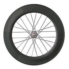 700C carbon track clincher bike wheel 88mm rear wheel fixed gear time trial bike