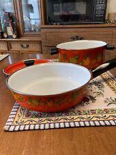 Corning Ware Corelle Spice Of Life Casserole Match Enamel Pot Pan Cookware Set