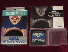 SEGA GAME GEAR - PSYCHIC WORLD! BOX CASE CARTRIDGE REGION FREE PLATFORM SHOOTER