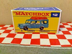 Matchbox Lesney Superfast No12 Land Rover Safari EMPTY Repro box ONLY  NO CAR
