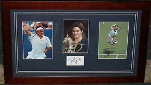 ROGER FEDERER signed Collage (16 GRAND SLAMS)