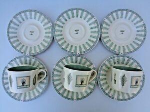 Pfaltzgraff Naturewood Coffee Cup Mug Plate Set of 10 Piece Snack Tea Leaf USA