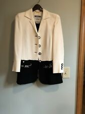 Moschino couture Black And Cream jacket Skirt Suit Set