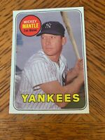Mickey Mantle 1969 Topps card # 500 New York Yankees Ex - Mt
