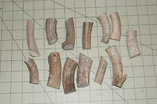 HUGE LOT 13 SMALL CRAFT DEER ANTLER PIECES JEWELRY RODENT CHEWS BUTTONS CARVING