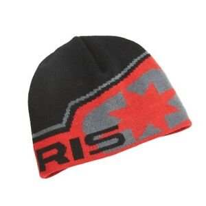 POLARIS STAR BEANIE HAT  - Black / Red -  ONE SIZE FITS MOST - Great Gift!