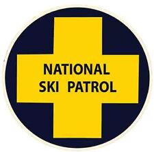 National Ski Patrol  snow skiing CO vintage looking Travel Decal  bumper sticker