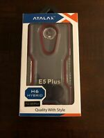 ATALAX H Series Shock Proof Case For Motorola E5 Plus (Clear / Red)