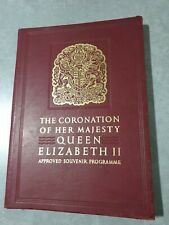 Coronation Of Queen Elizabeth II Approved Souvenir Program Royal Family 1953