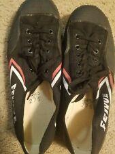 Feivue Martial ArtsParkour Canvas Shoes Black Size 45, Men's 11, Women's12.5