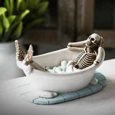 Skeleton in Bathtub Skull Figurine Statue Skeleton Halloween