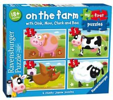 NEW! Ravensburger On the Farm 4 my first jigsaw puzzle set Age 18 months+ 07302