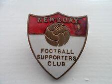 Very Rare Newquay Football Supporters Club Enamel Badge